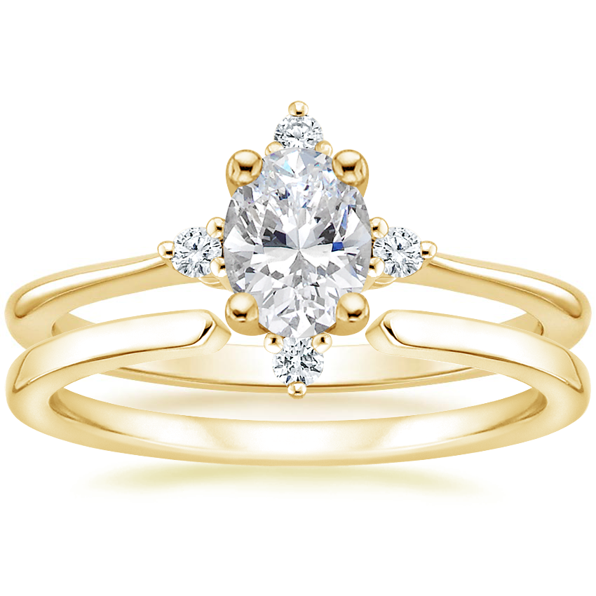 18K Yellow Gold Luminesce Diamond Ring with Liv Wedding Ring