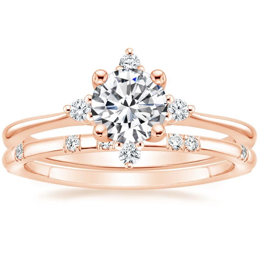 14K Rose Gold Luminesce Diamond Ring with Astra Diamond Ring