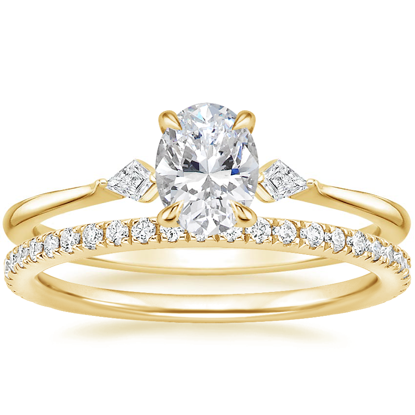 18K Yellow Gold Cometa Diamond Ring with Luxe Ballad Diamond Ring (1/4 ct. tw.)