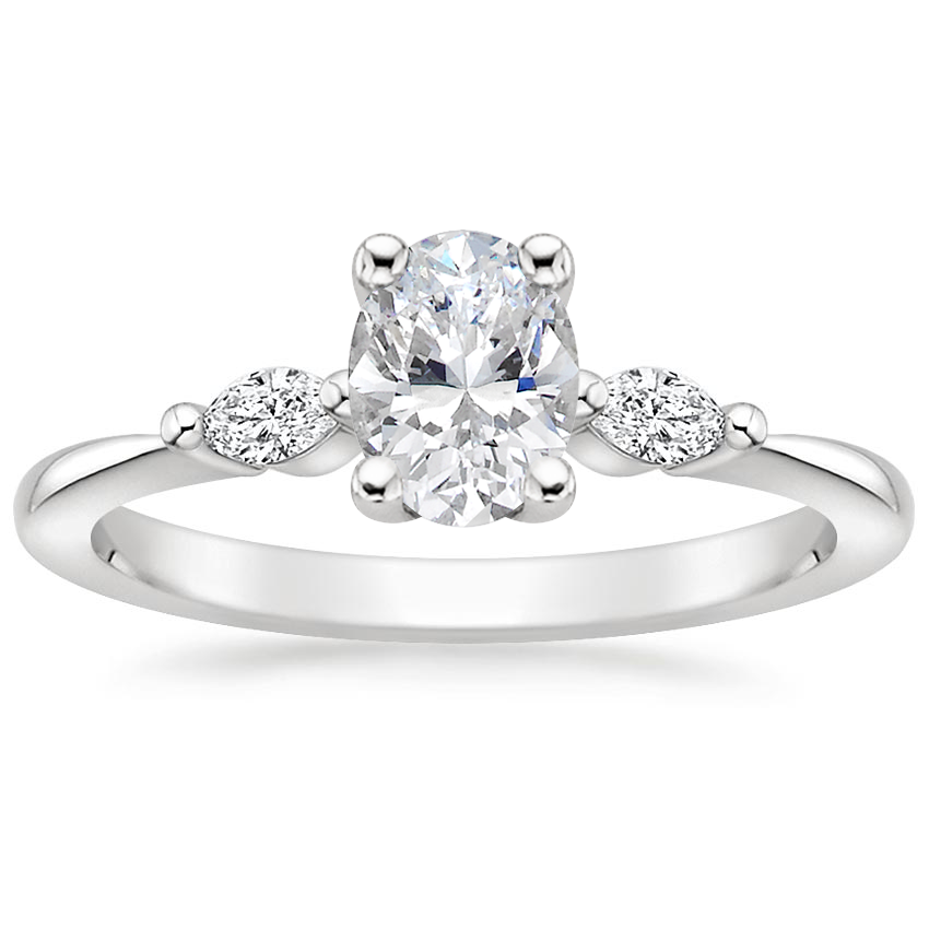 Oval Platinum Gia Diamond Ring