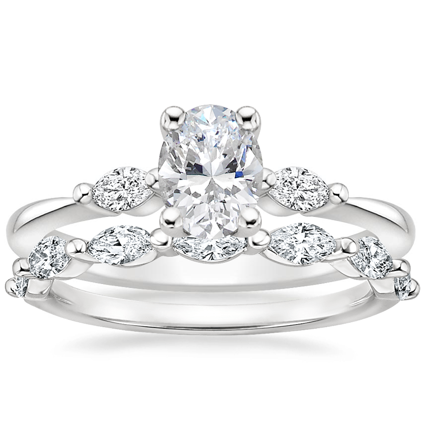 Platinum Gia Diamond Ring with Joelle Diamond Ring