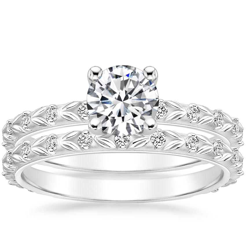 18K White Gold Hollie Diamond Bridal Set