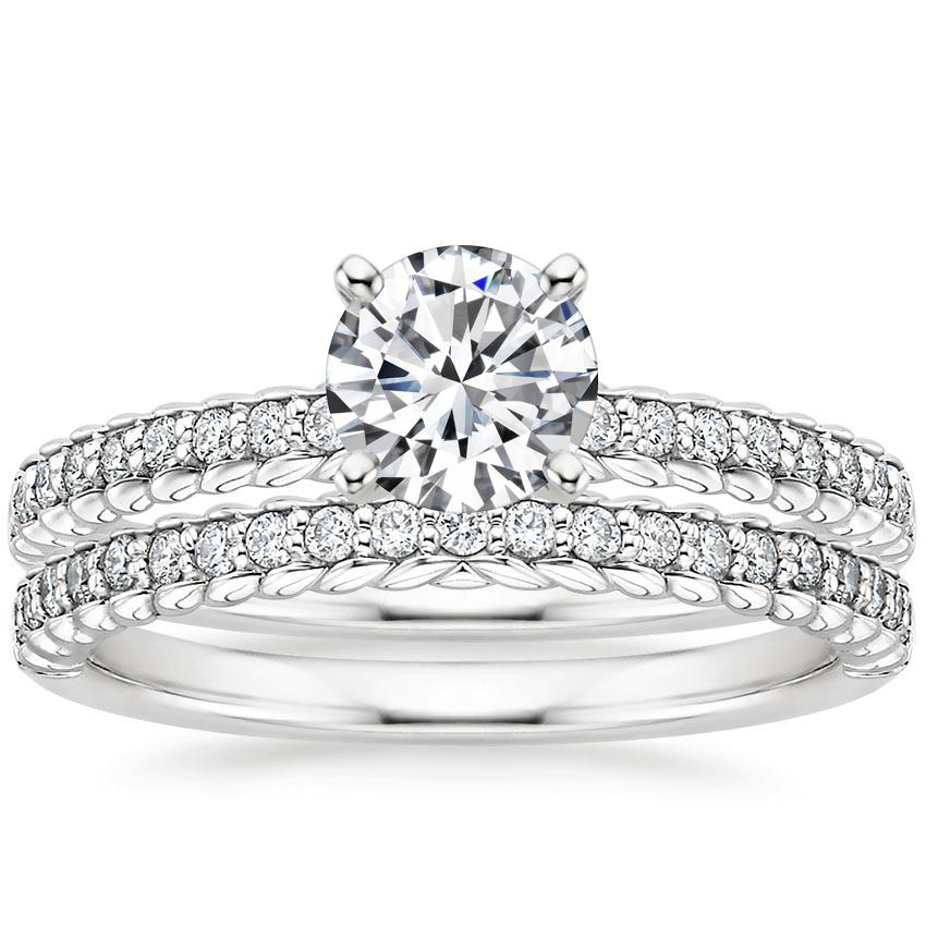 Platinum Corda Diamond Bridal Set (1/4 ct. tw.)