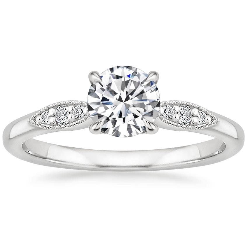 Round Milgrain Engagement Ring
