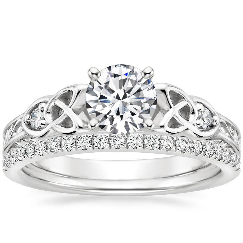 18K White Gold Aberdeen Diamond Ring with Ballad Diamond Ring (1/6 ct. tw.)