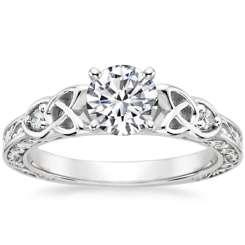 Round Platinum Aberdeen Diamond Ring