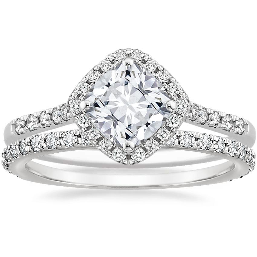 Platinum Cometa Diamond Ring with Luxe Sonora Diamond Ring (1/4 ct. tw.)