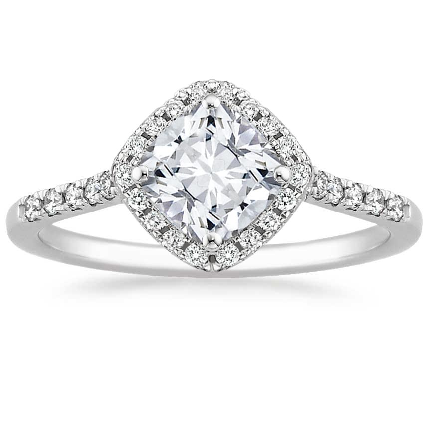 Cushion Platinum Cometa Diamond Ring
