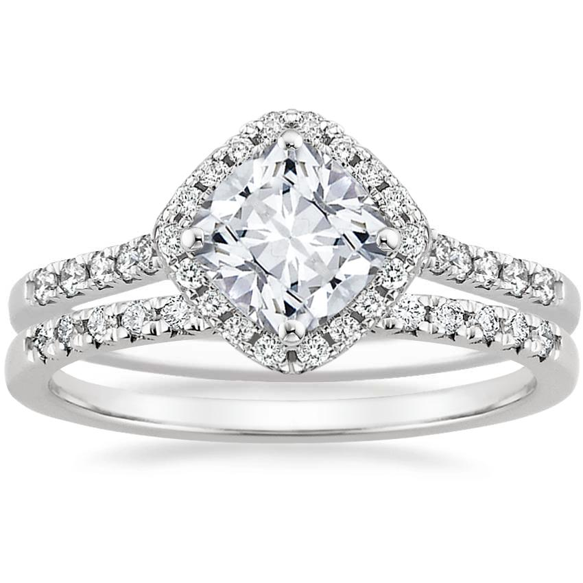 18K White Gold Cometa Diamond Ring with Sonora Diamond Ring (1/8 ct. tw.)