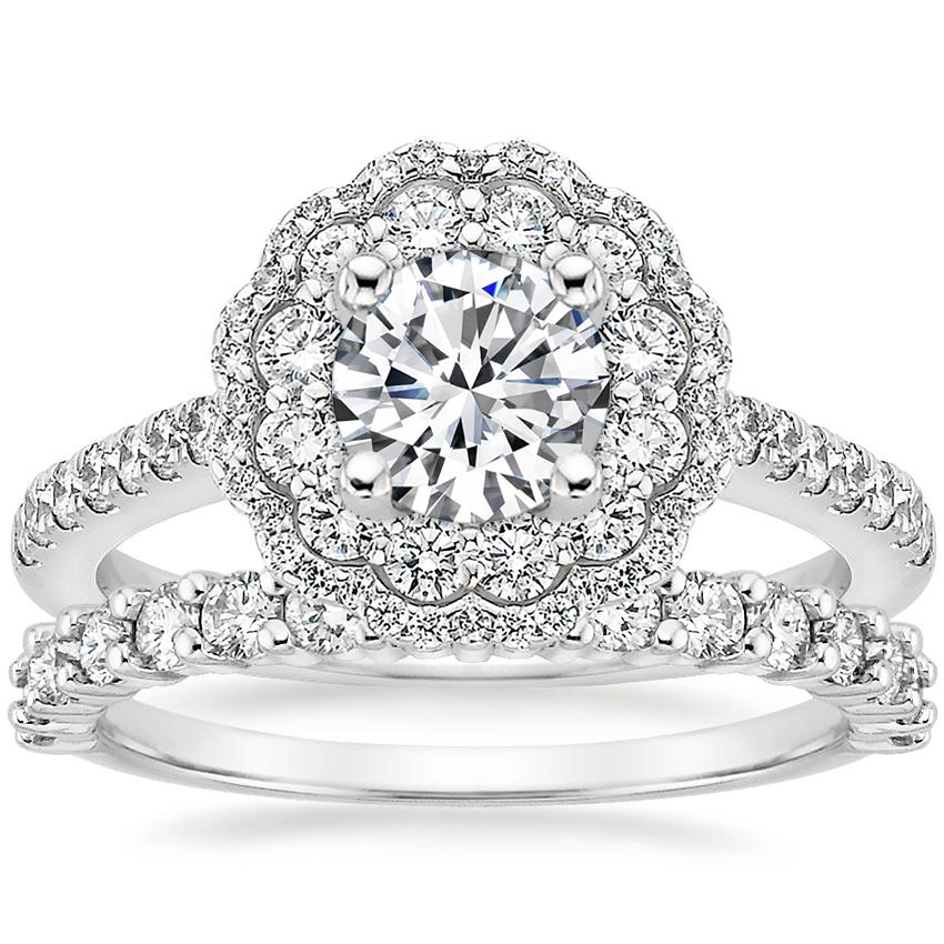 Platinum Rosa Diamond Ring with Shared Prong Diamond Ring (2/5 ct. tw.)