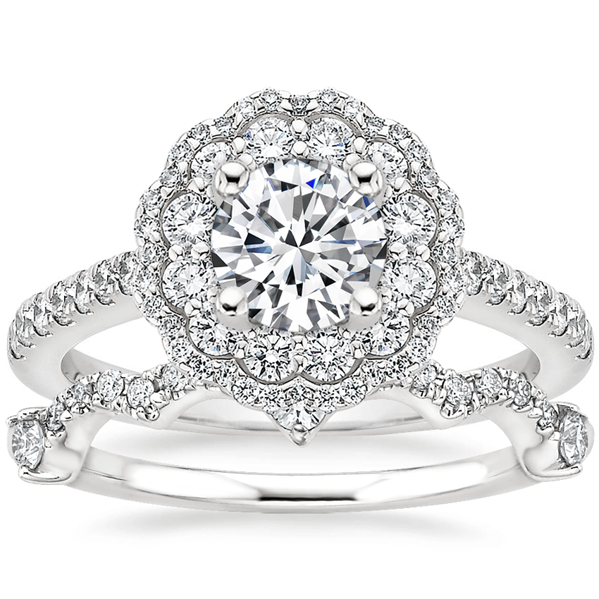 18K White Gold Rosa Diamond Ring with Rosalind Diamond Ring