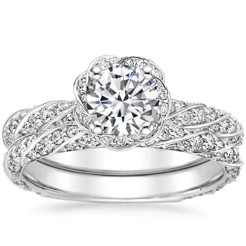 18K White Gold Cordoba Diamond Bridal Set (1 ct. tw.)