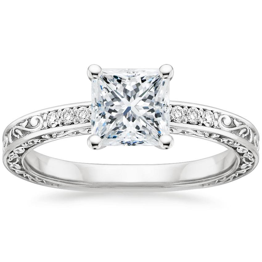 Princess Vintage Engagement Ring