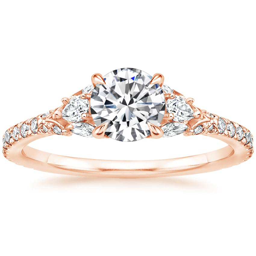 Round 14K Rose Gold Ava Diamond Ring (1/2 ct. tw.)