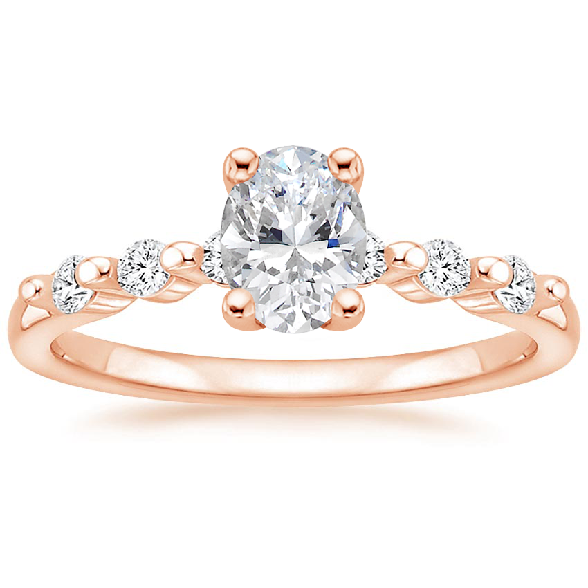 Oval Petite Shared Prong Engagement Ring
