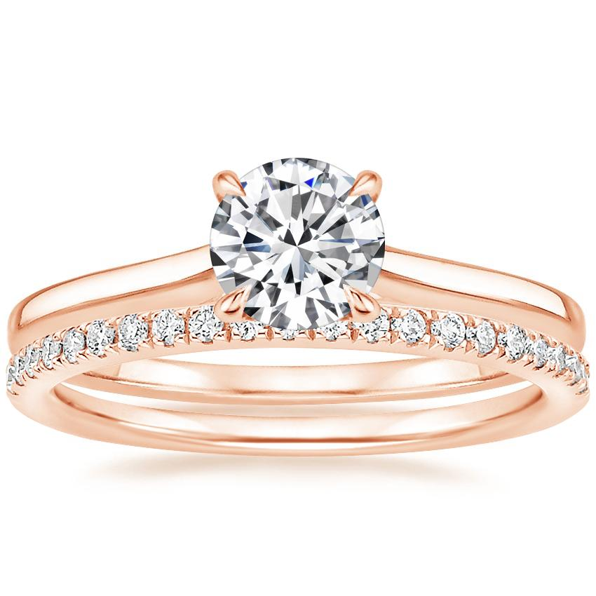 14K Rose Gold Provence Ring with Ballad Diamond Ring (1/6 ct. tw.)
