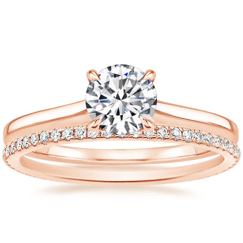 14K Rose Gold Provence Ring with Whisper Eternity Diamond Ring (1/4 ct. tw.)