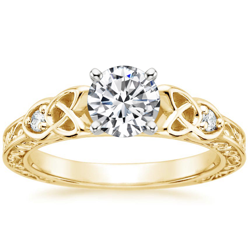 Round 18K Yellow Gold Aberdeen Diamond Ring