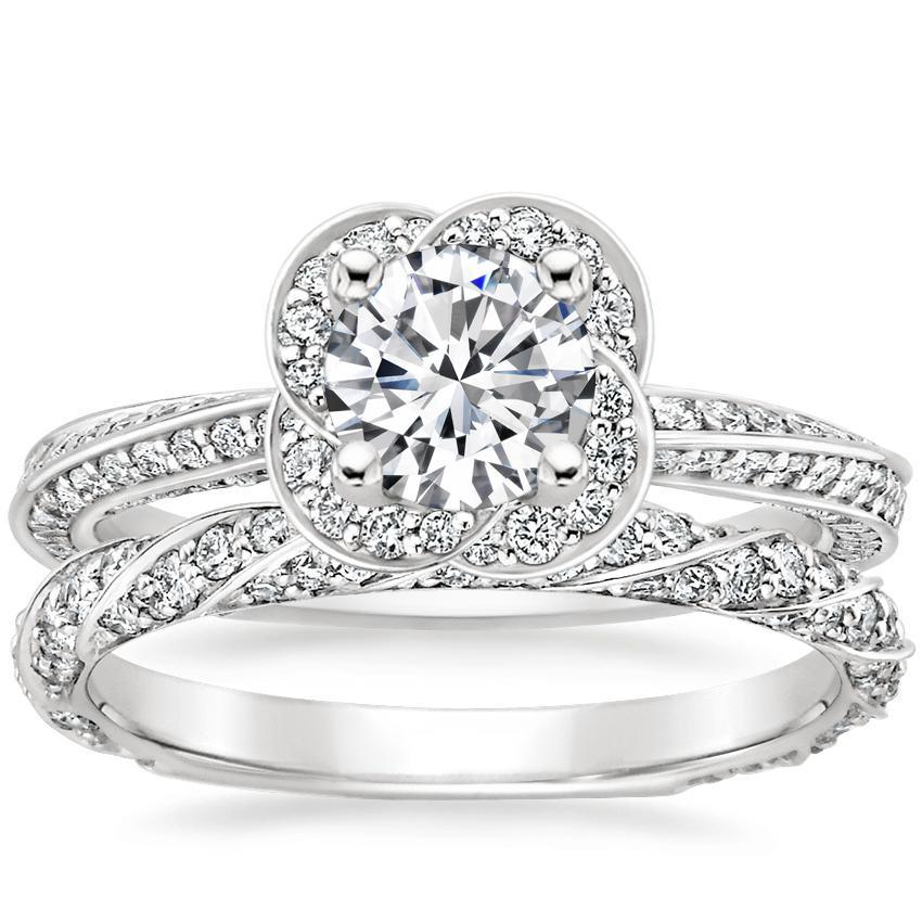 755b00cb3f38 18K White GoldAzalea Diamond Ring (1 2 ct. wt.) with Cordoba Diamond Ring
