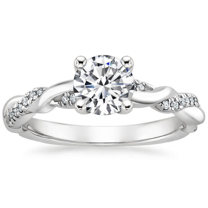 Round Platinum Tressa Diamond Ring