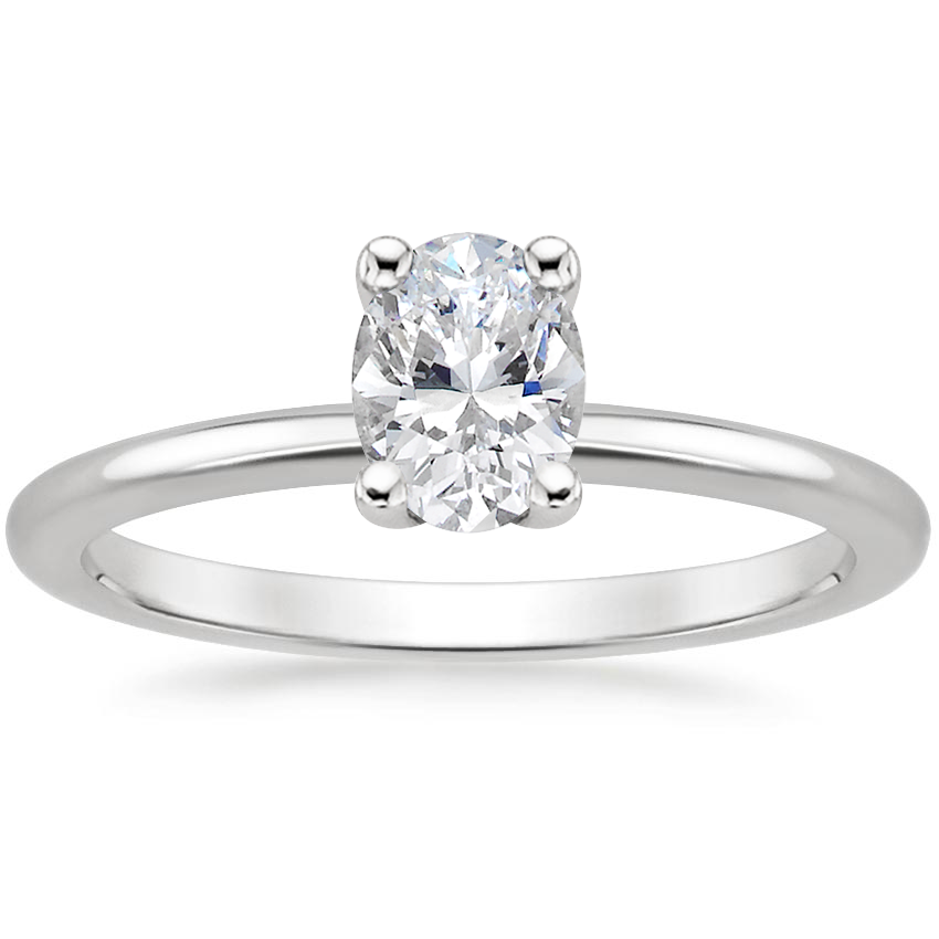 Oval Flush Fit Engagement Ring