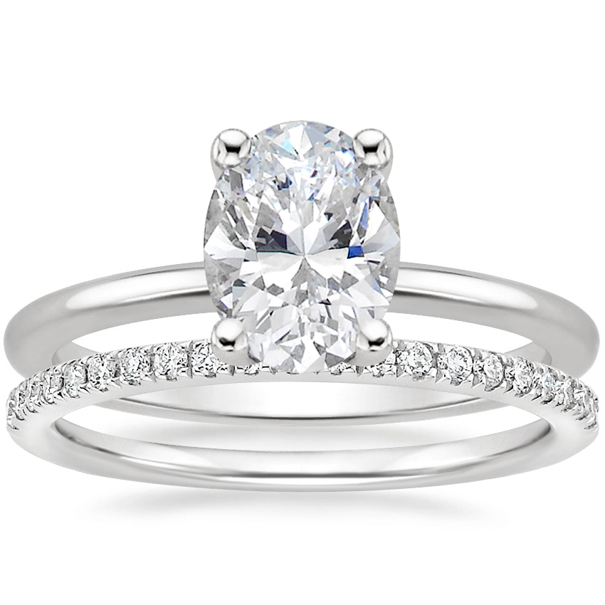 18K White Gold Perfect Fit Ring with Ballad Diamond Ring (1/6 ct. tw.)