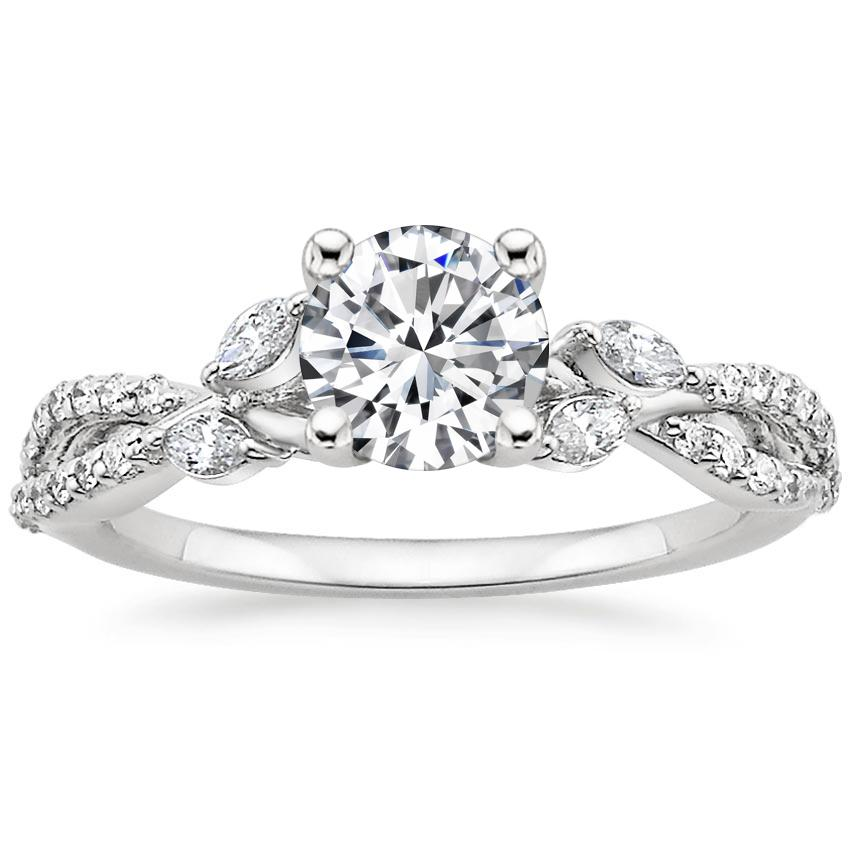 Round Diamond Vine Ring