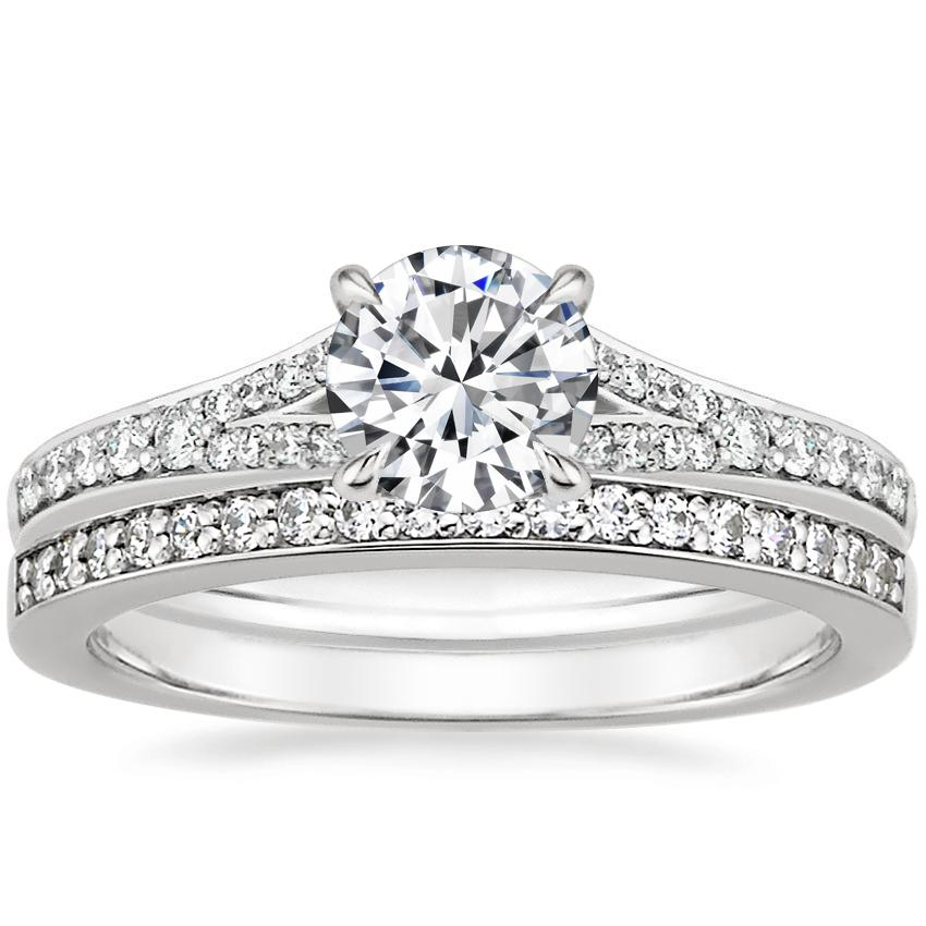 18K White Gold Duet Diamond Bridal Set (1/3 ct. tw.)