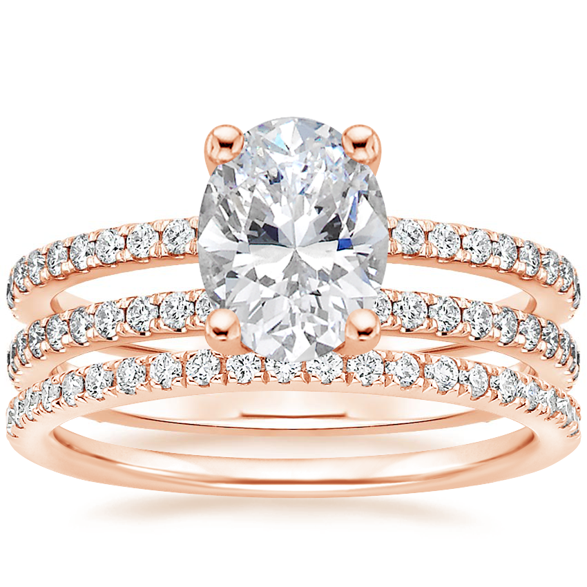 14K Rose Gold Linnia Diamond Ring with Ballad Diamond Ring (1/6 ct. tw.)