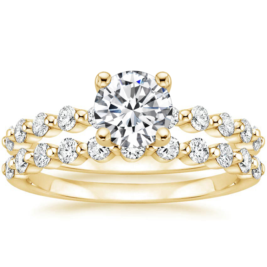 18K Yellow Gold Marseille Diamond Bridal Set (1/2 ct. tw.)