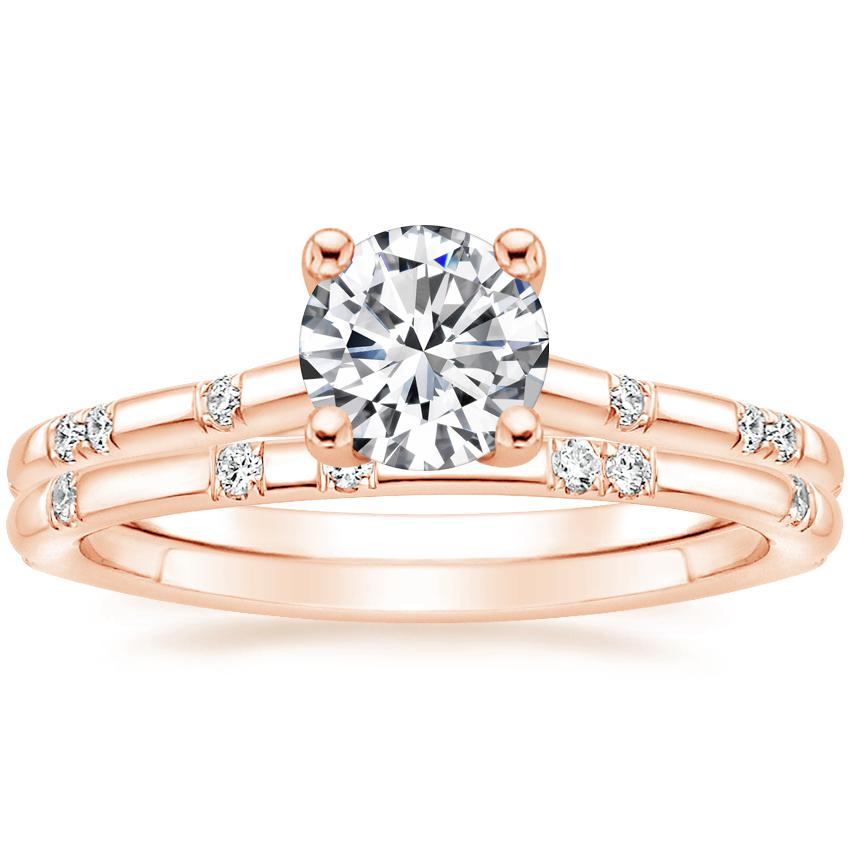 14K Rose Gold Astra Diamond Ring with Astra Diamond Ring