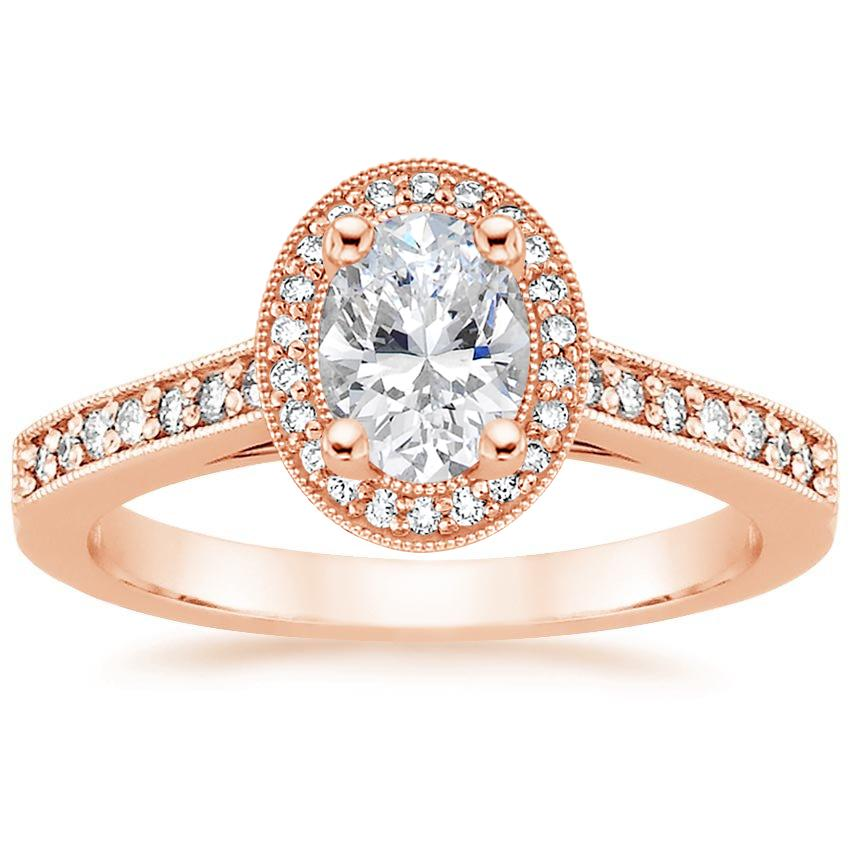 Oval Antique Halo Engagement Ring