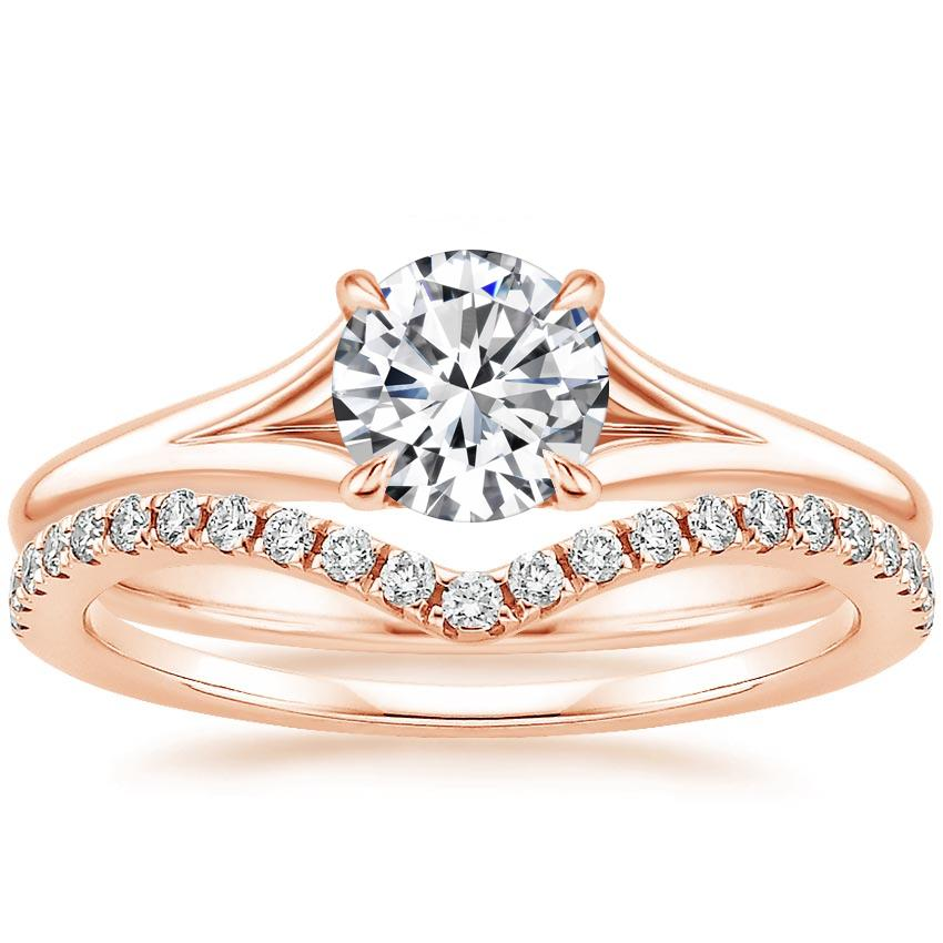 14K Rose Gold Reverie Ring with Flair Diamond Ring (1/6 ct. tw.)