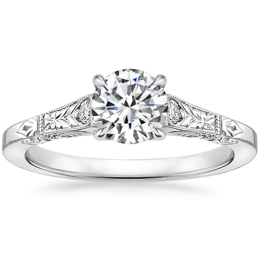 Round Platinum Valentina Diamond Ring