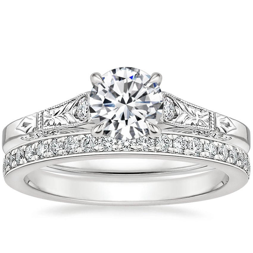 18K White Gold Valentina Diamond Ring with Geneva Diamond Ring