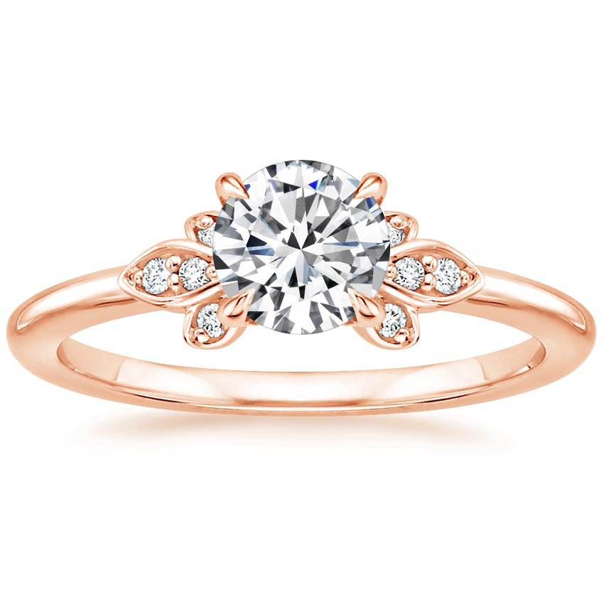 Round 14K Rose Gold Fiorella Diamond Ring