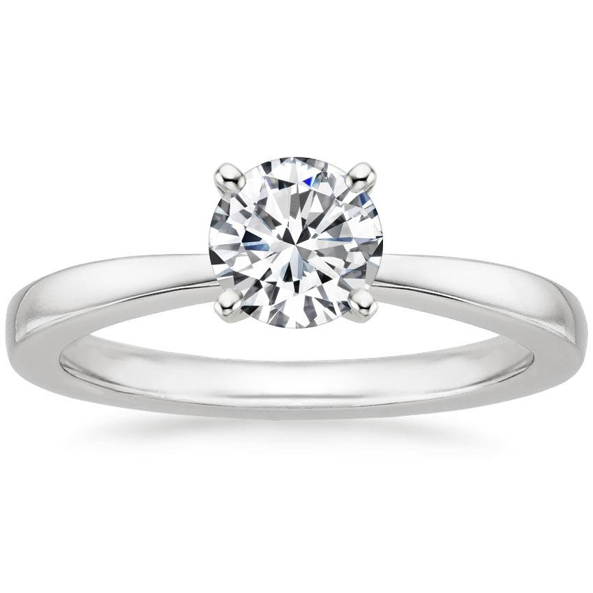 18K White Gold Petite Taper Ring, top view
