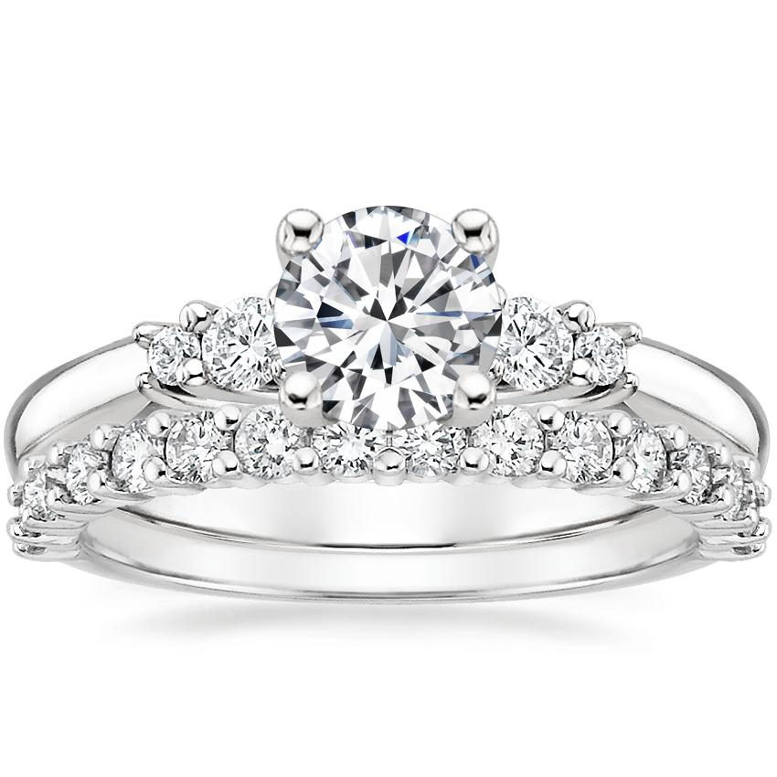 18K White Gold Rialto Diamond Ring with Shared Prong Diamond Ring (2/5 ct. tw.)