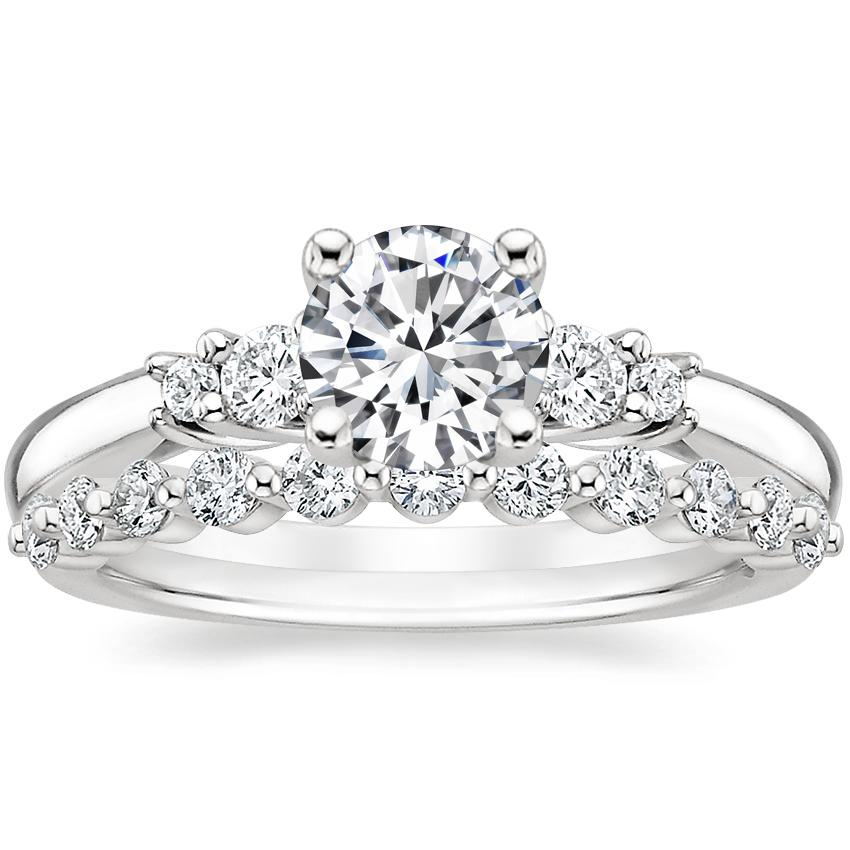 Platinum Rialto Diamond Ring with Marseille Diamond Ring (1/3 ct. tw.)