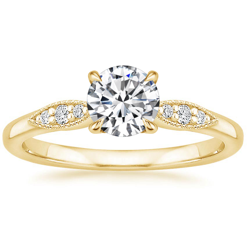 Round 18K Yellow Gold Isadora Diamond Ring