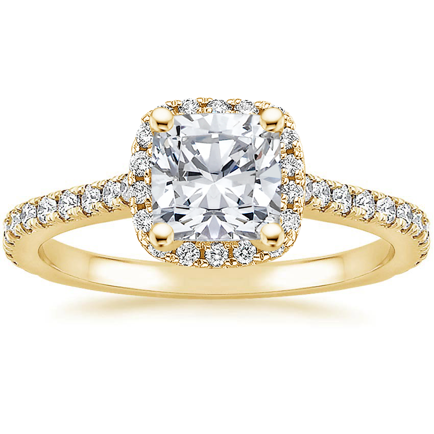 Cushion 18K Yellow Gold Luxe Odessa Diamond Ring (1/3 ct. tw.)