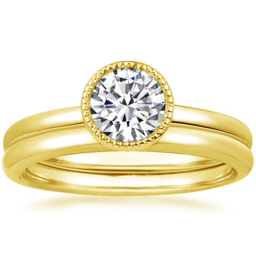18K Yellow Gold Sierra Bridal Set