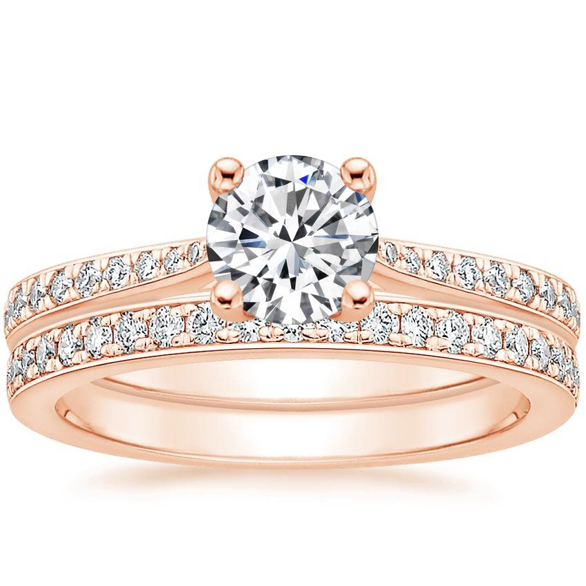 14K Rose Gold Geneva Diamond Bridal Set (1/4 ct. tw.)