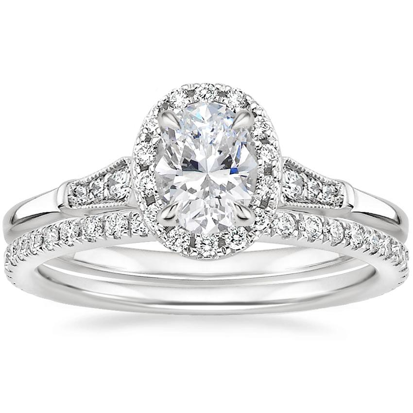 Platinum Linden Diamond Ring with Luxe Ballad Diamond Ring (1/4 ct. tw.)