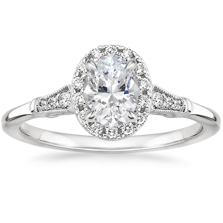Oval Platinum Linden Diamond Ring