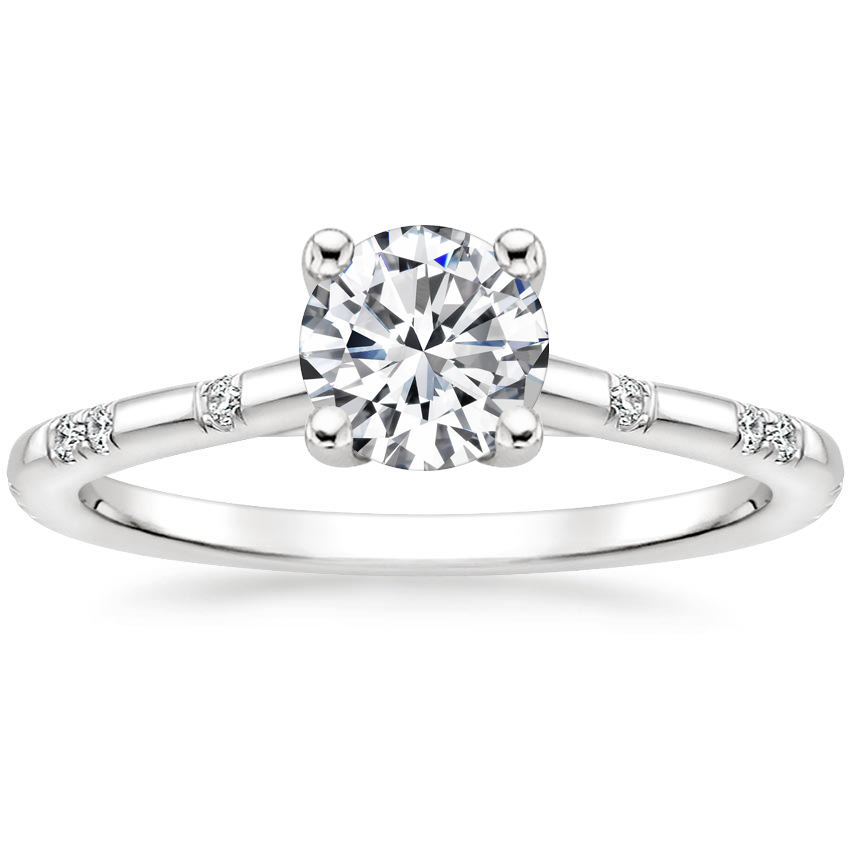 Round Scattered Diamond Ring
