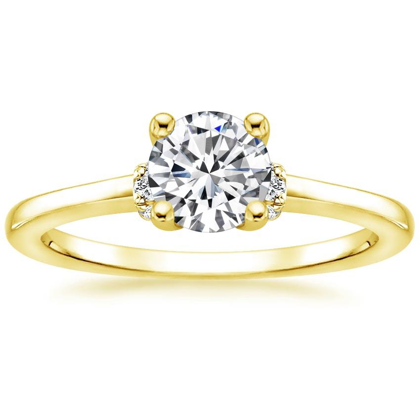 Round Wrapped Shoulder Diamond Ring