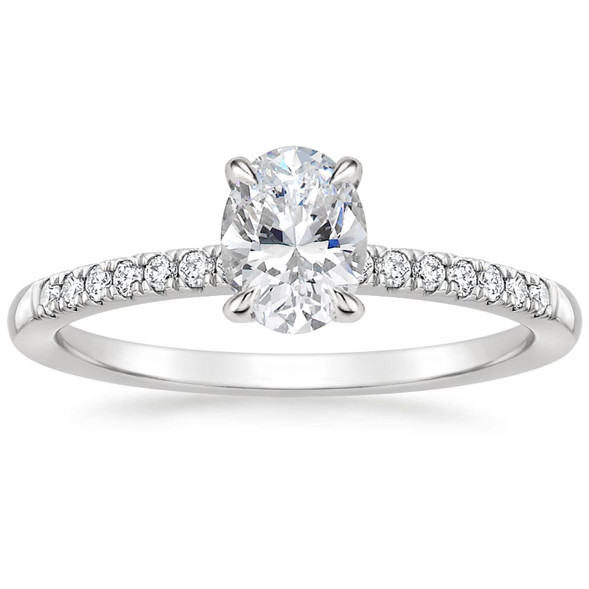 Oval Diamond Gallery Engagement Setting