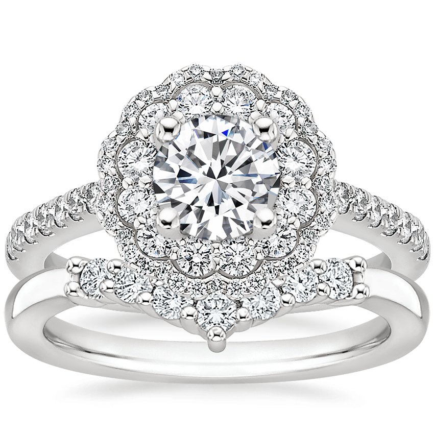 Platinum Rosa Diamond Ring with Verona Diamond Ring