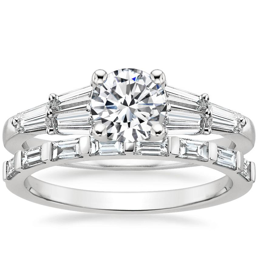 18K White Gold Harlow Diamond Ring with Barre Diamond Ring (1/4 ct. tw.)